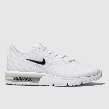 new style 726a9 27a6c Nike White Air Max Sequent 4.5 Womens Trainers