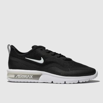 Nike Black & White AIR MAX SEQUENT 4.5 Trainers