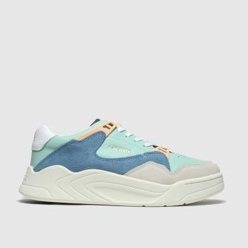 Lacoste White & Pl Blue Court Slam Womens Trainers
