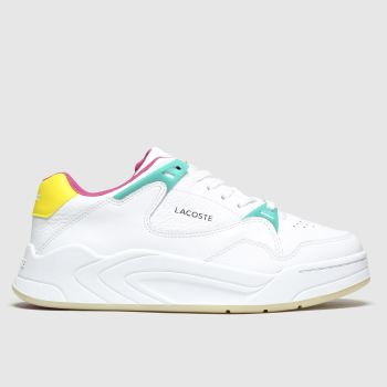Lacoste White & Yellow Court Slam Womens Trainers