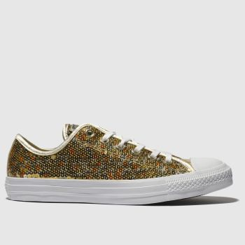 Converse Gold All Star Sequin Ox Womens Trainers