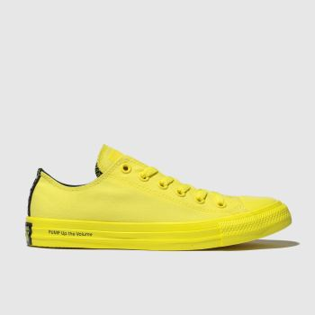 Converse Yellow Chuck Taylor All Star Ox Opi Womens Trainers