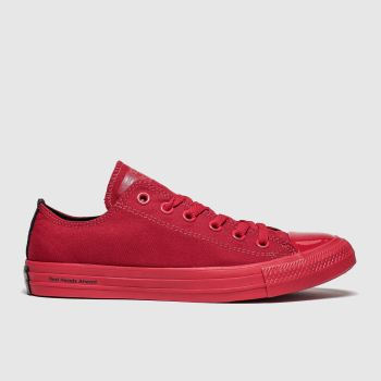 Converse Red All Star Opi Ox Womens Trainers