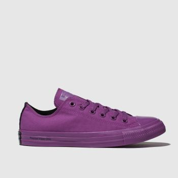 Converse Purple Chuck Taylor All Star Ox Opi Womens Trainers