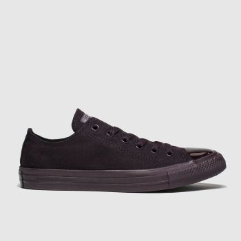 converse dark purple all star opi ox trainers