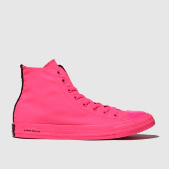 Converse Pink Chuck Taylor All Star Hi Opi Womens Trainers
