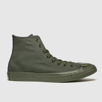 Converse Khaki All Star Opi Hi Womens Trainers