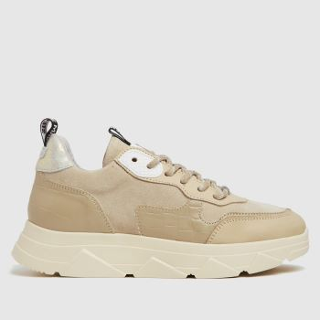 Steve Madden Beige Pitty Womens Trainers