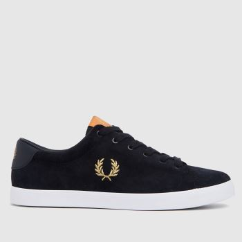 Fred Perry Navy Lottie Suede Womens Trainers