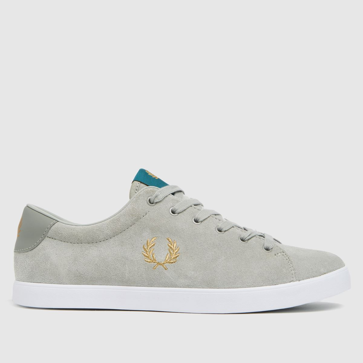 Fred Perry Light Grey Lottie Suede Trainers