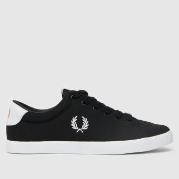Fred Perry Black & White Lottie Twill Womens Trainers
