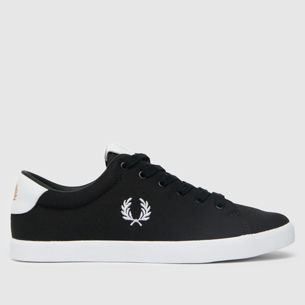 Fred Perry Black & White Lottie Twill Trainers
