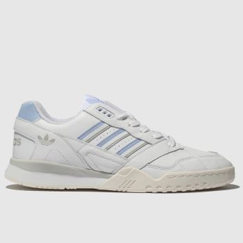 Adidas White & Pl Blue A.R. Trainers