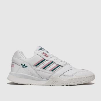 Adidas White & Pink A.R. Trainers