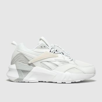 Reebok White & grey AZTREK DOUBLE Trainers