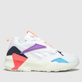 Reebok White & Purple AZTREK DOUBLE NU POPS Trainers