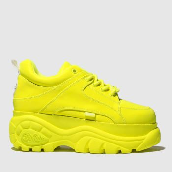 Buffalo London Yellow Classic Low Womens Trainers