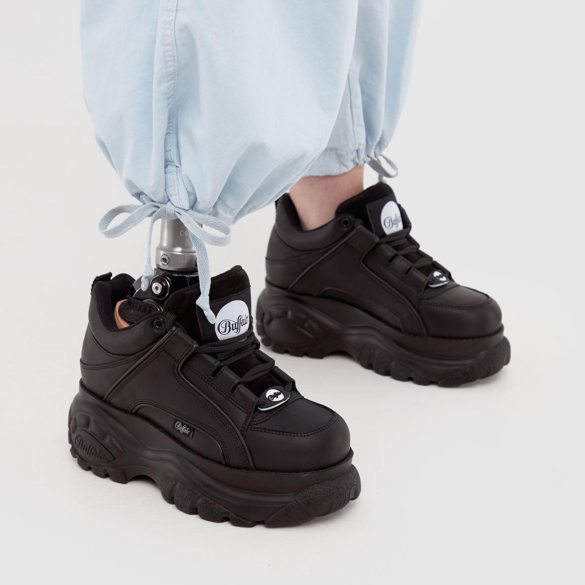 Damen Schwarz buffalo london Classic Low Sneaker   schuh Gute Qualität beliebte Schuhe