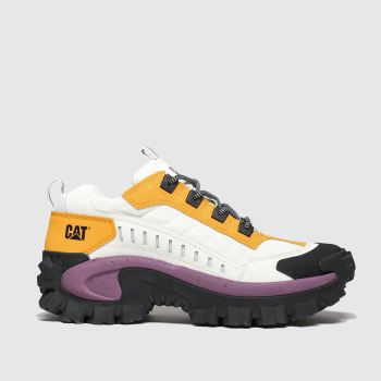 Cat-footwear White & Yellow Intruder c2namevalue::Womens Trainers