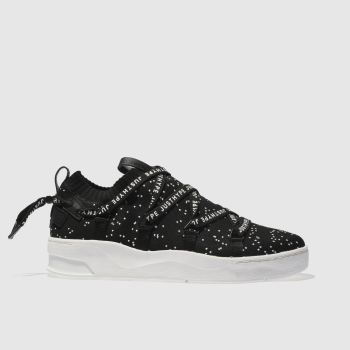 Hype Black Spec Tape Cup Womens Trainers