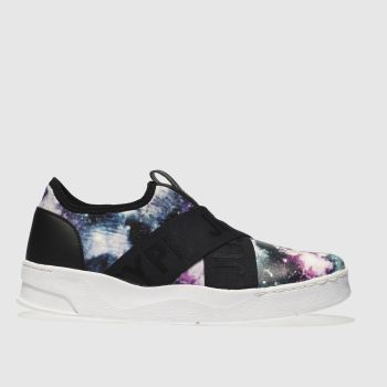 Hype Black & Purple Space Cup Trainer Womens Trainers