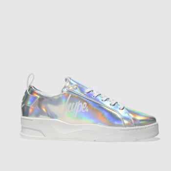 Hype Silver Hologram Reef Trainer Womens Trainers