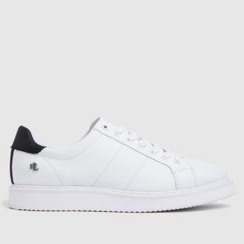 LAUREN RALPH LAUREN White & Navy Angeline Ii Sneaker Womens Trainers