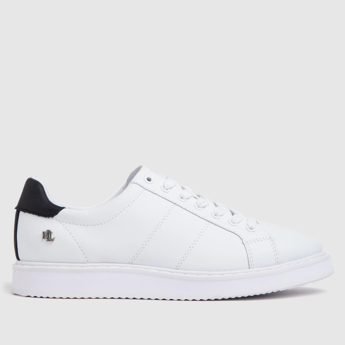 LAUREN RALPH LAUREN White & Navy Angeline Ii Sneaker Trainers