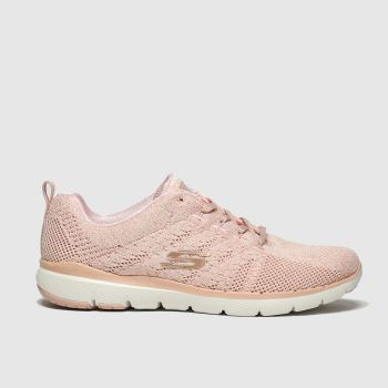 Skechers Peach Flex Appeal 3.0 Metal Works Womens Trainers