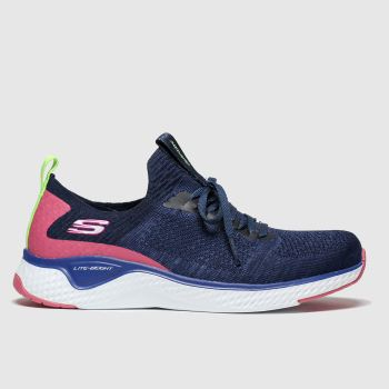 Skechers Navy Solar Fuse Womens Trainers