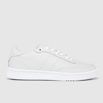 schuh Light Grey Manning Court Lace Up Womens Trainers