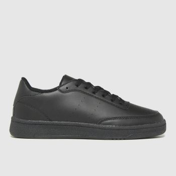 schuh Black Manning Court Lace Up Womens Trainers