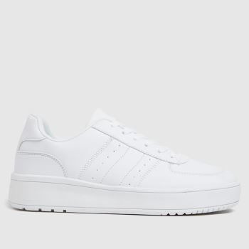 schuh White Magnet Lace Up Womens Trainers