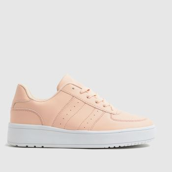 schuh Pale Pink Magnet Lace Up Womens Trainers