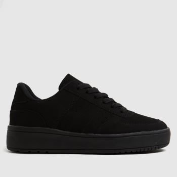 schuh Black Magnet Lace Up Womens Trainers
