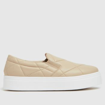 schuh Natural Nessa Padded Slip On Womens Trainers