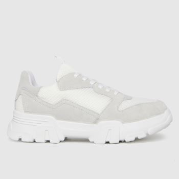 schuh White & grey Marcy Chunky Womens Trainers