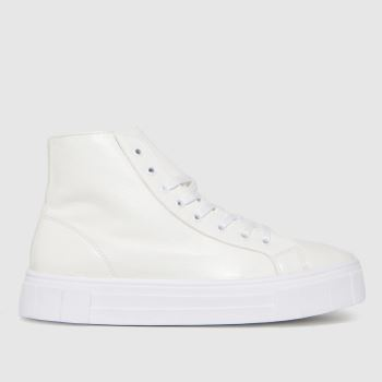 schuh White Mabel Chunky Hi Top Womens Trainers