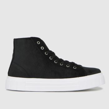 schuh Black Mabel Chunky Hi Top Womens Trainers