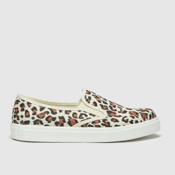 schuh Black & Brown Awesome Slip On Womens Trainers#