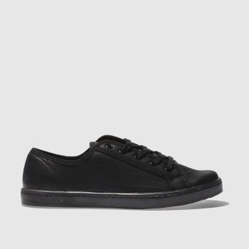 schuh Black Good Times Lace Up Womens Trainers