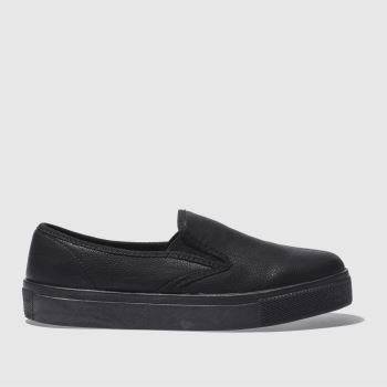 schuh Black Awesome Slip On Ii Mono Womens Trainers#