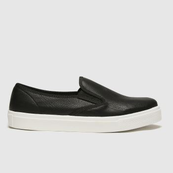 schuh Black & White Awesome Slip On Ii Womens Trainers