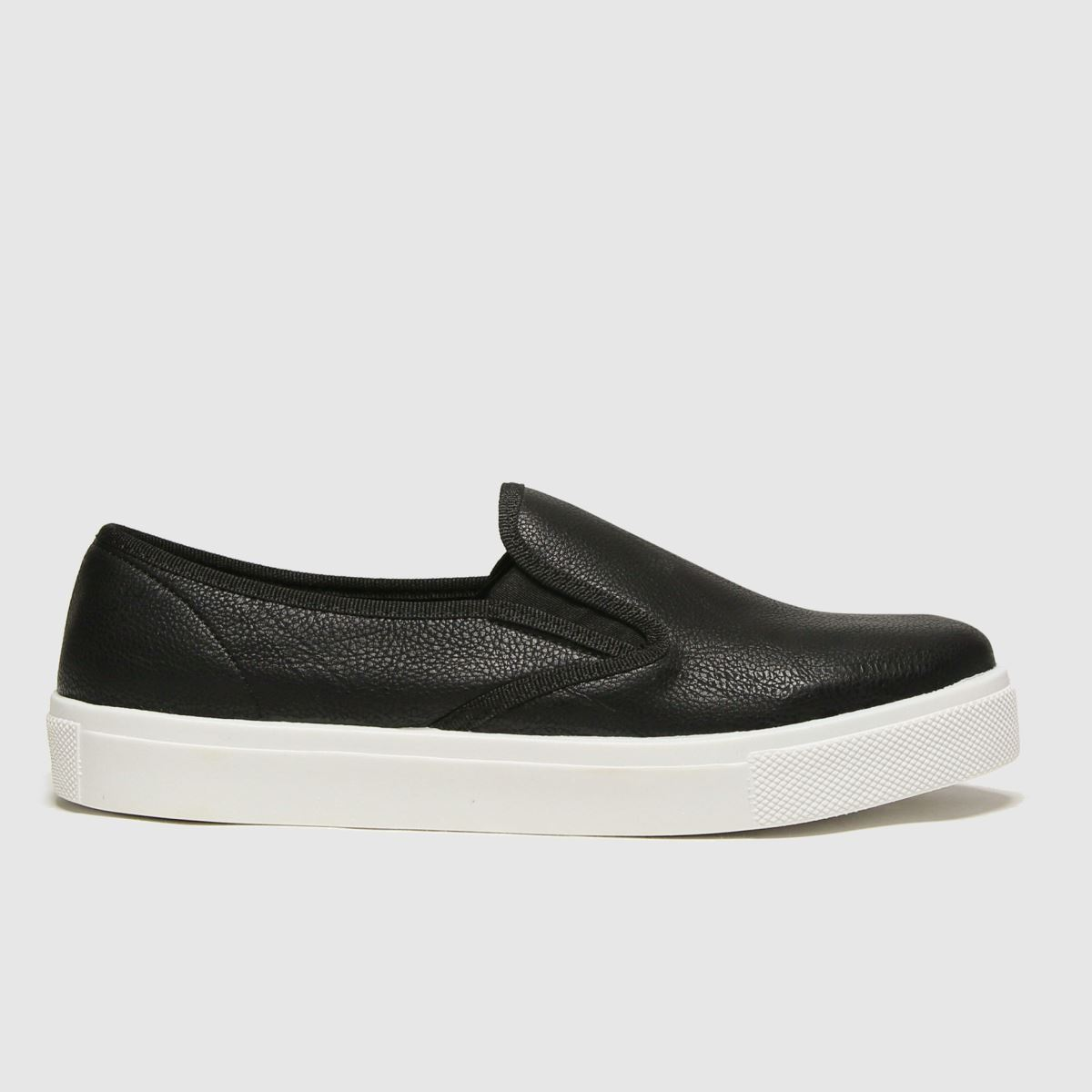 schuh Schuh Black & White Awesome Slip On Ii Trainers