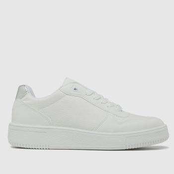 schuh White Manda Lace Up Womens Trainers