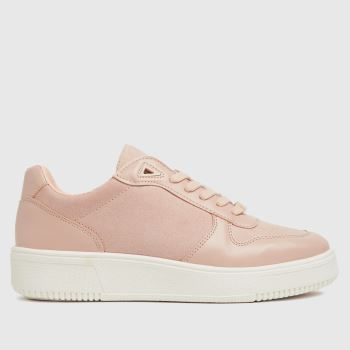 schuh Pale Pink Manda Lace Up Womens Trainers