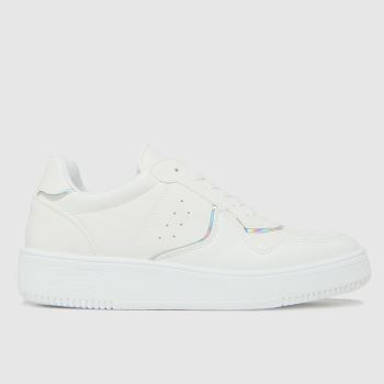 schuh White Minty Holographic Womens Trainers