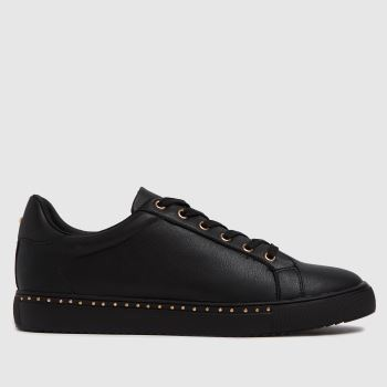schuh Black Mika Studded Lace Up Trainers
