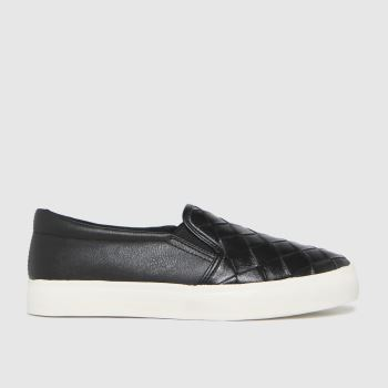 schuh Black Malin Weave Slip On Womens Trainers