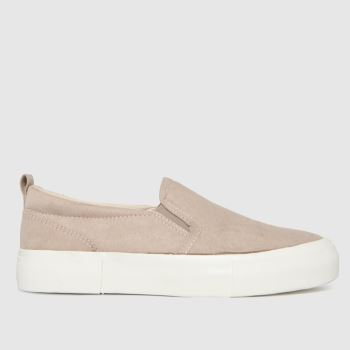 schuh Natural Megan Slip On Womens Trainers